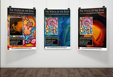 Voices of the Soul - Art Exhibition - Poster Design