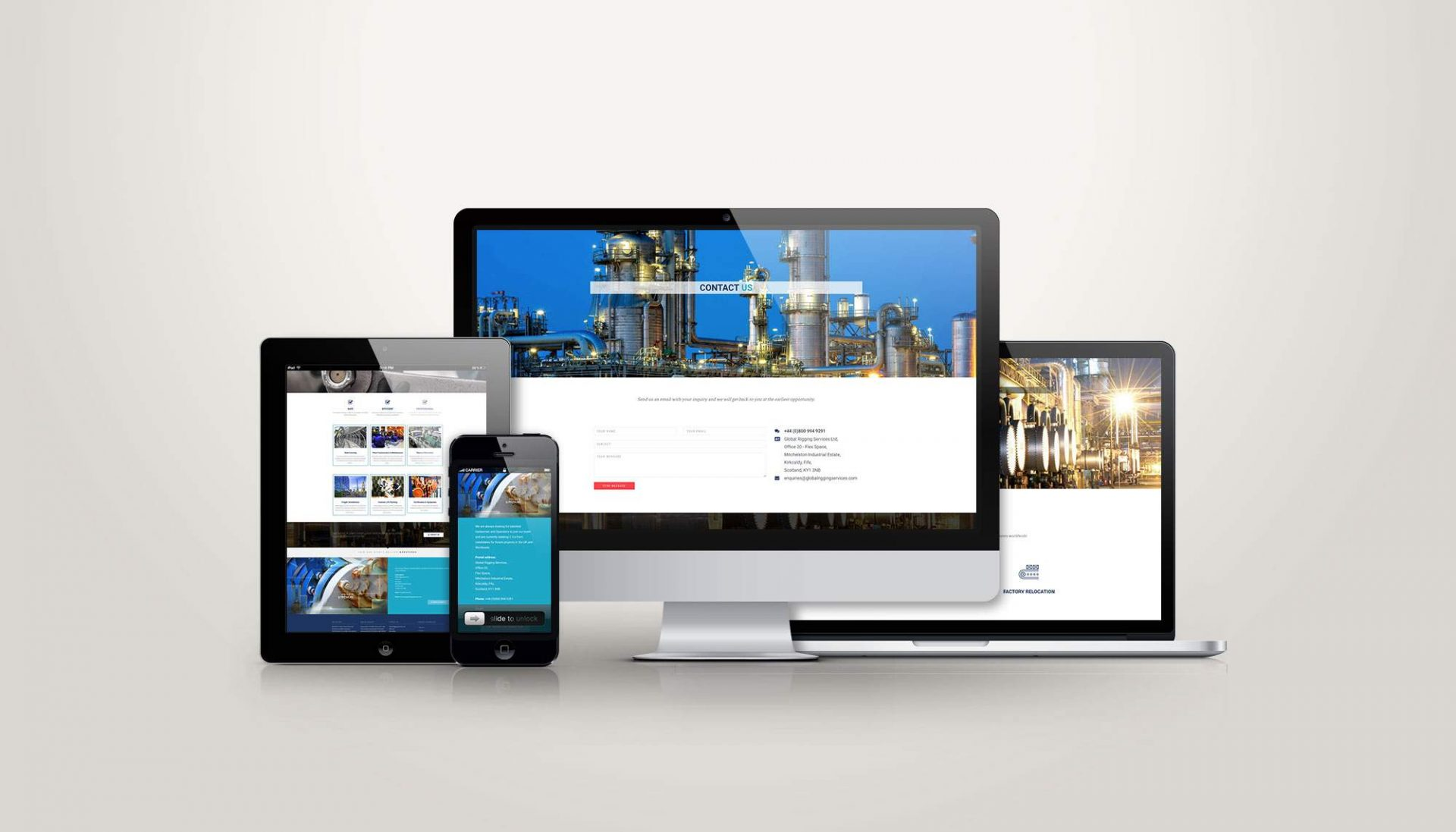 Web Design for Global Rigging Services