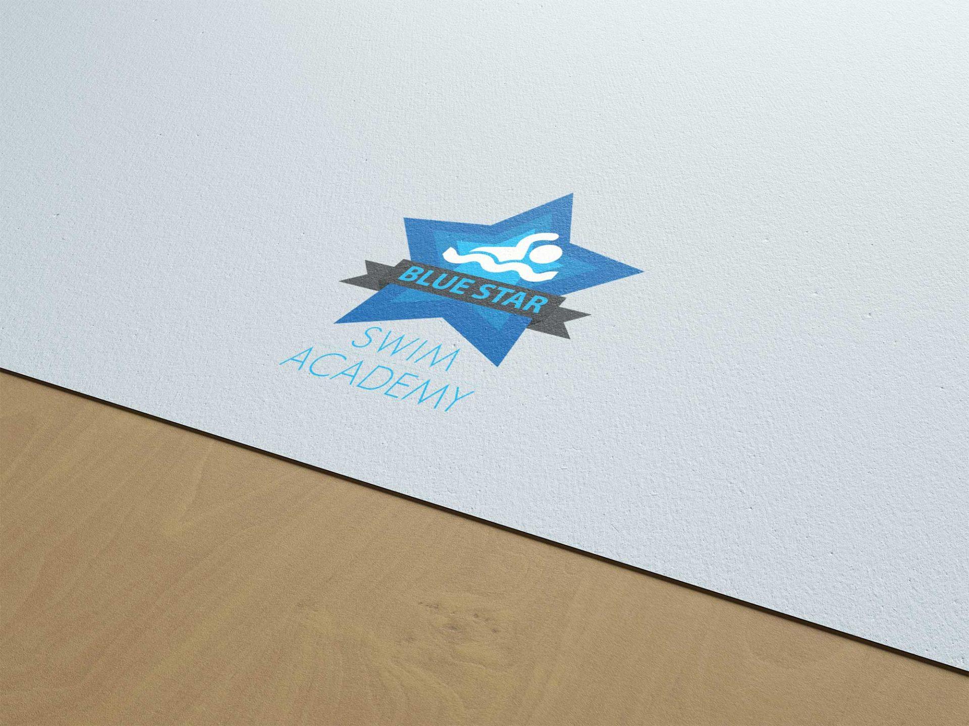 Logo design for Blue Star Swim Academy