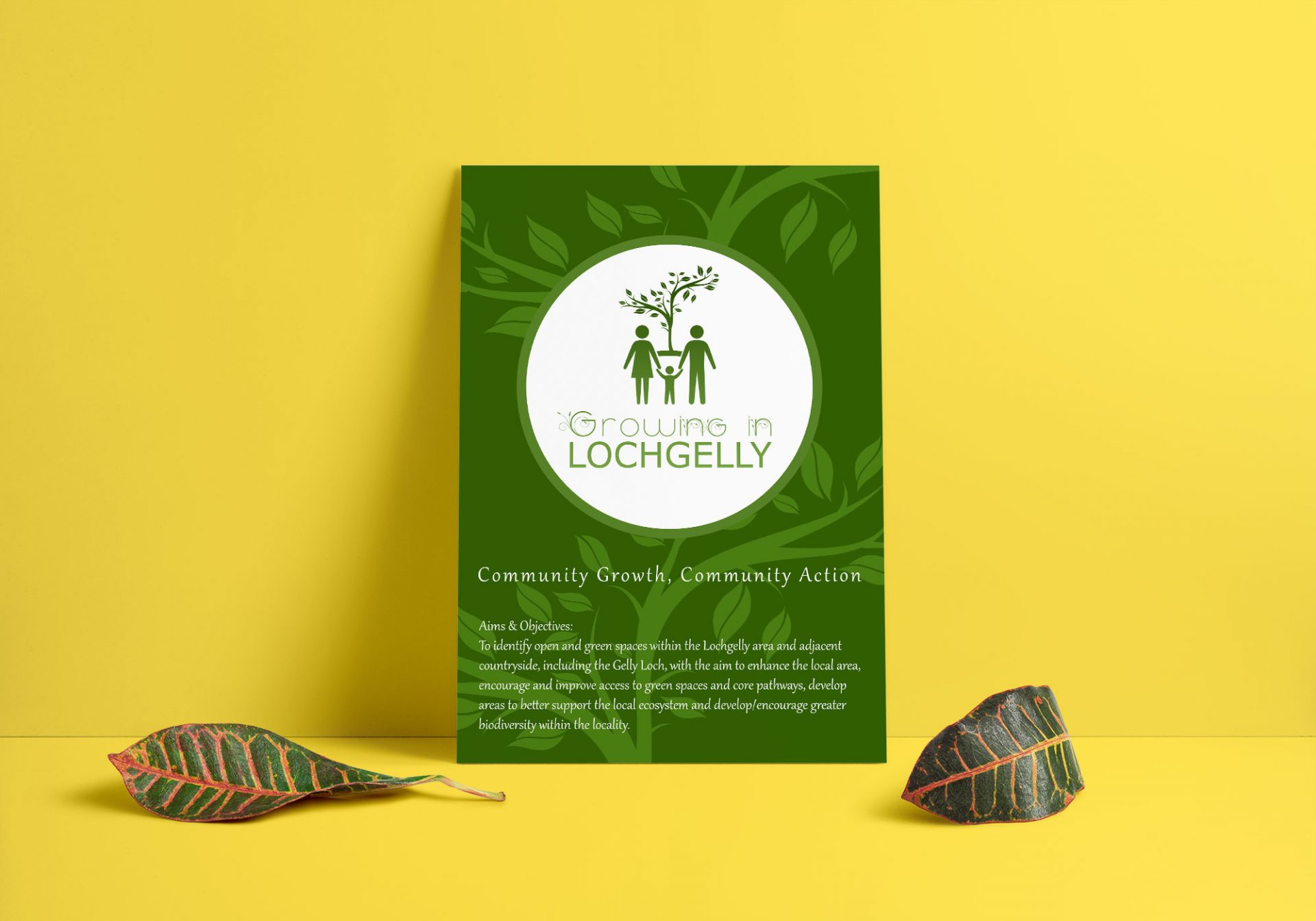 A3 poster designed for Growing in Lochgelly