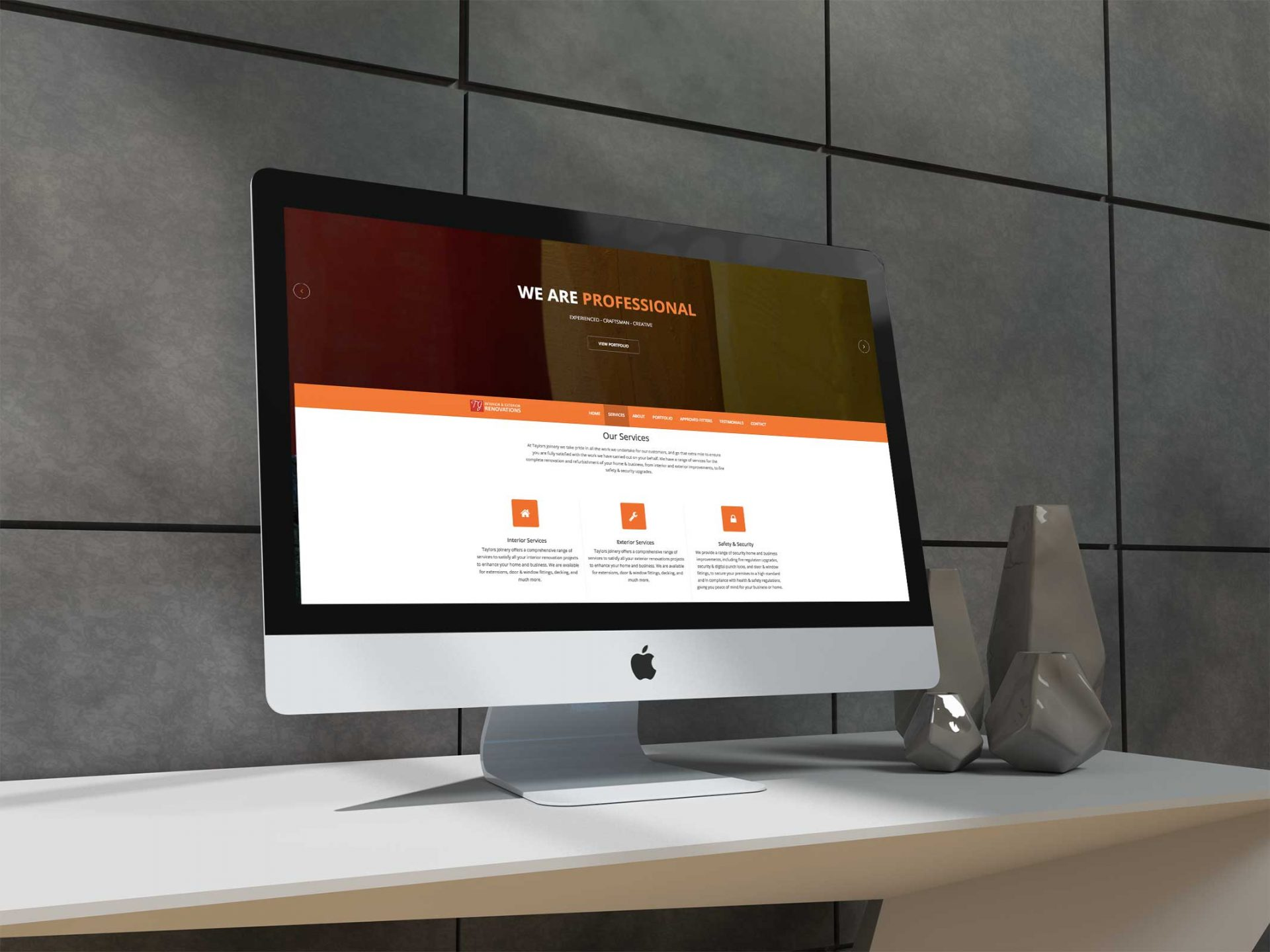 Taylors Joinery - Website screenshot