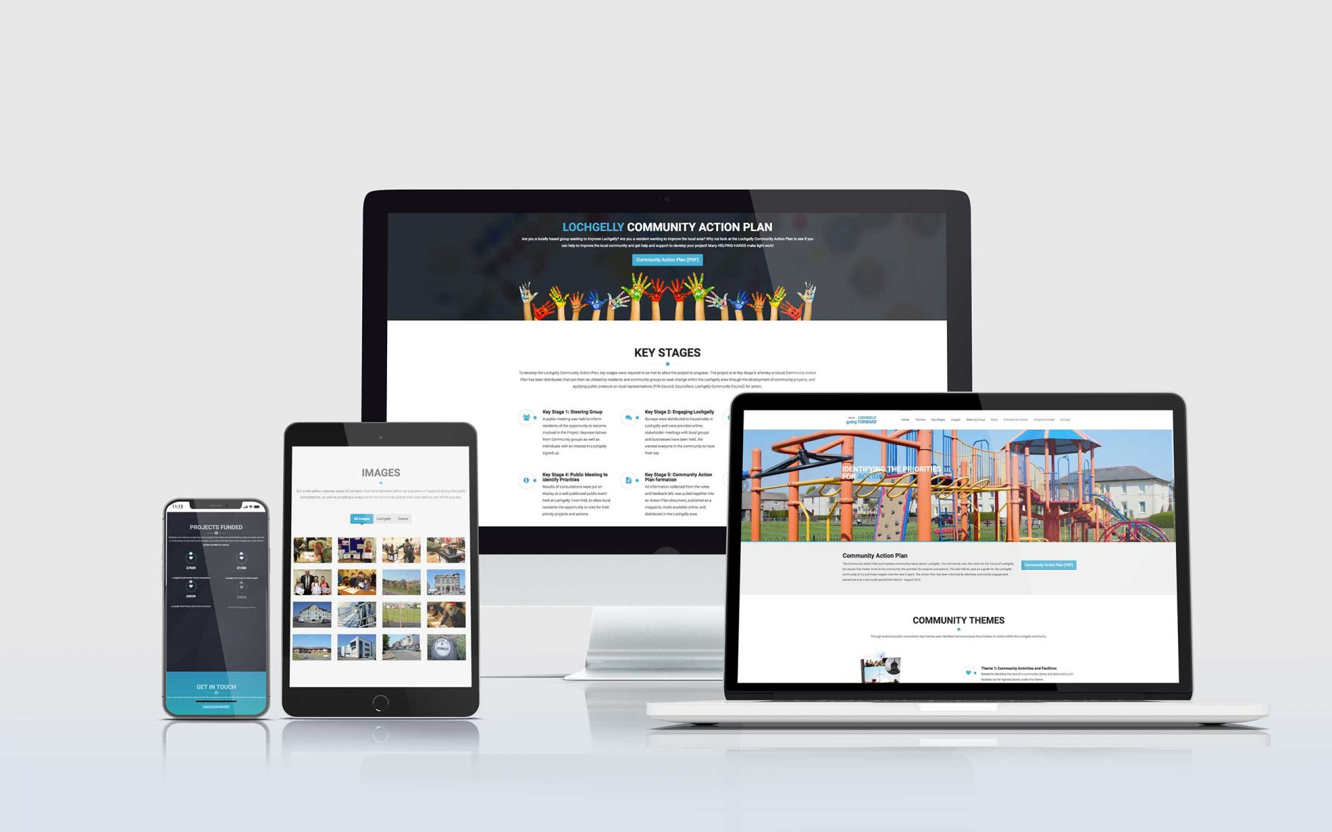 Lochgelly Going Forward- Website mockups