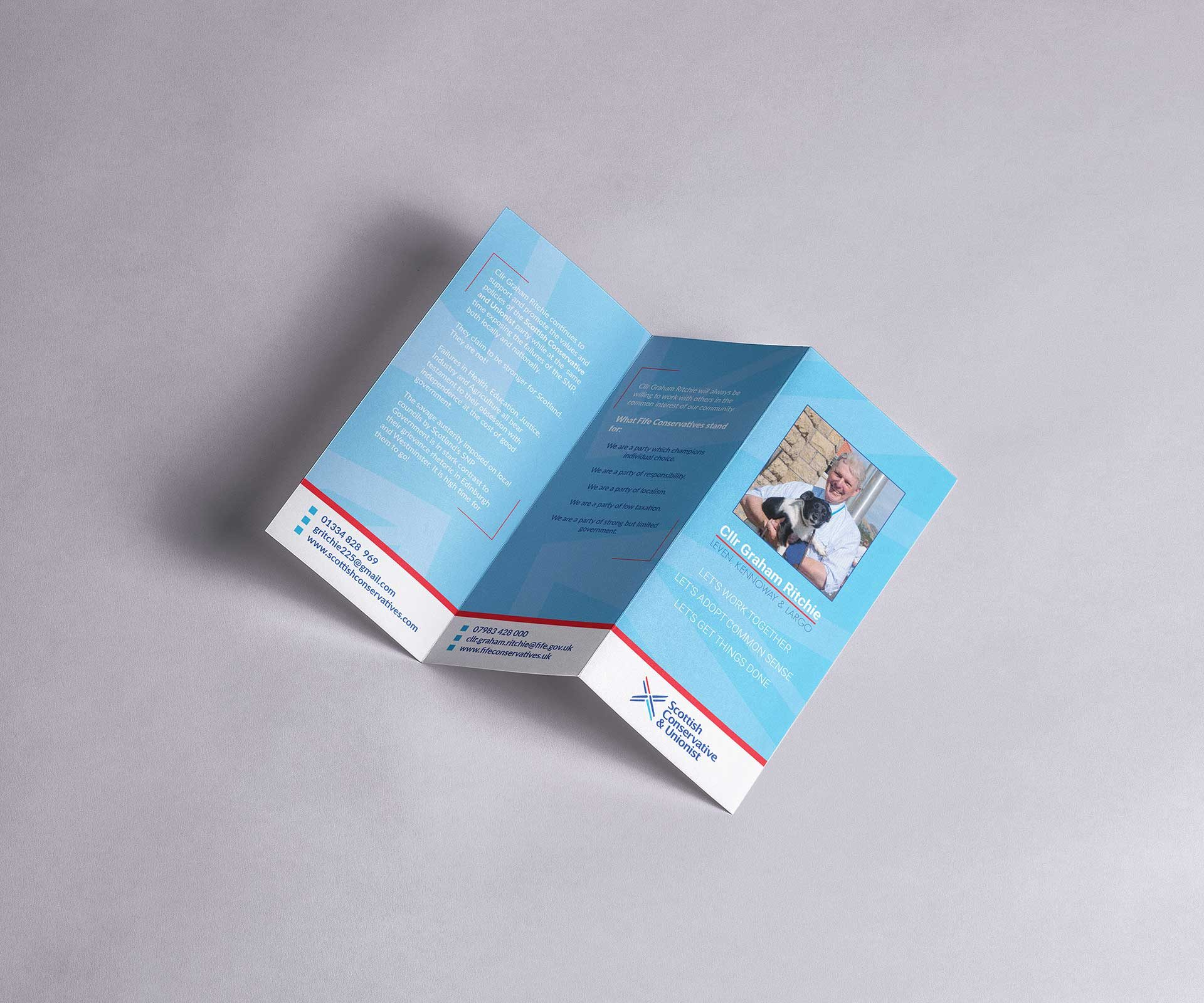 Brochure design for Councillor Graham Ritchie