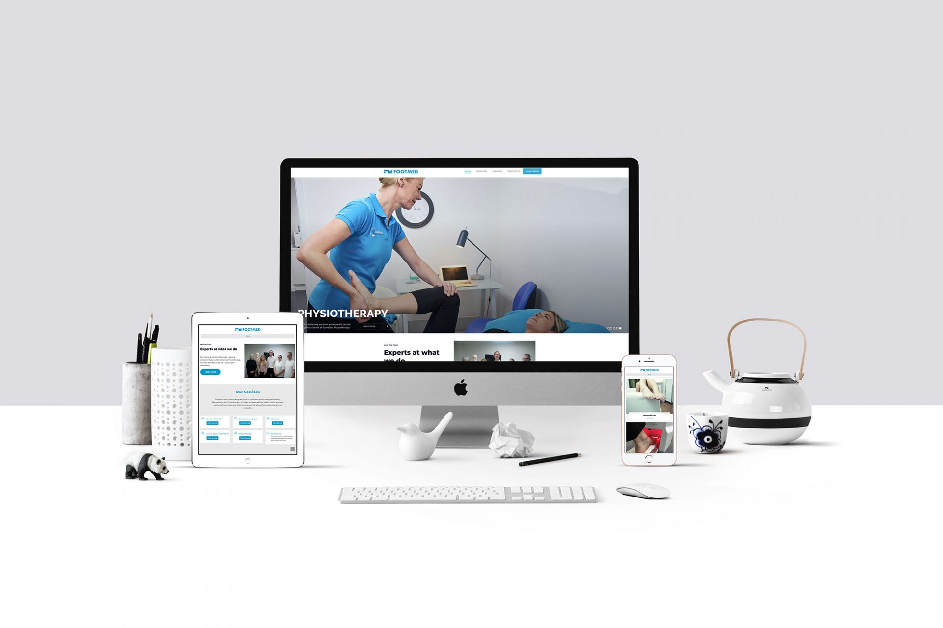 FootMed - Website Design - Screen Mockups