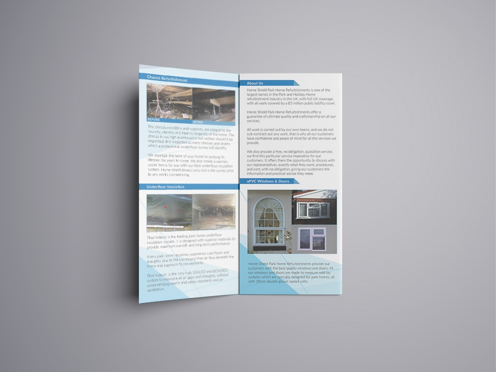 Home Shield trifold pamphlet