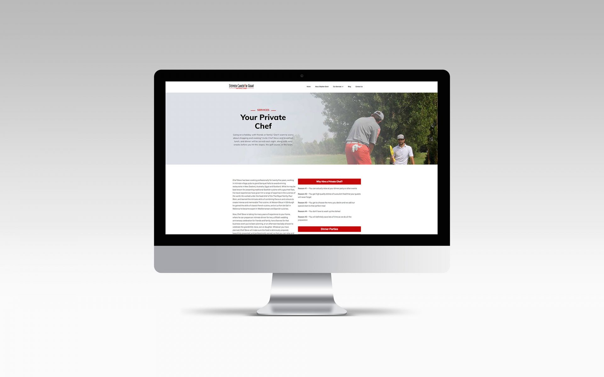 Stephen Cameron Grant - Website Design