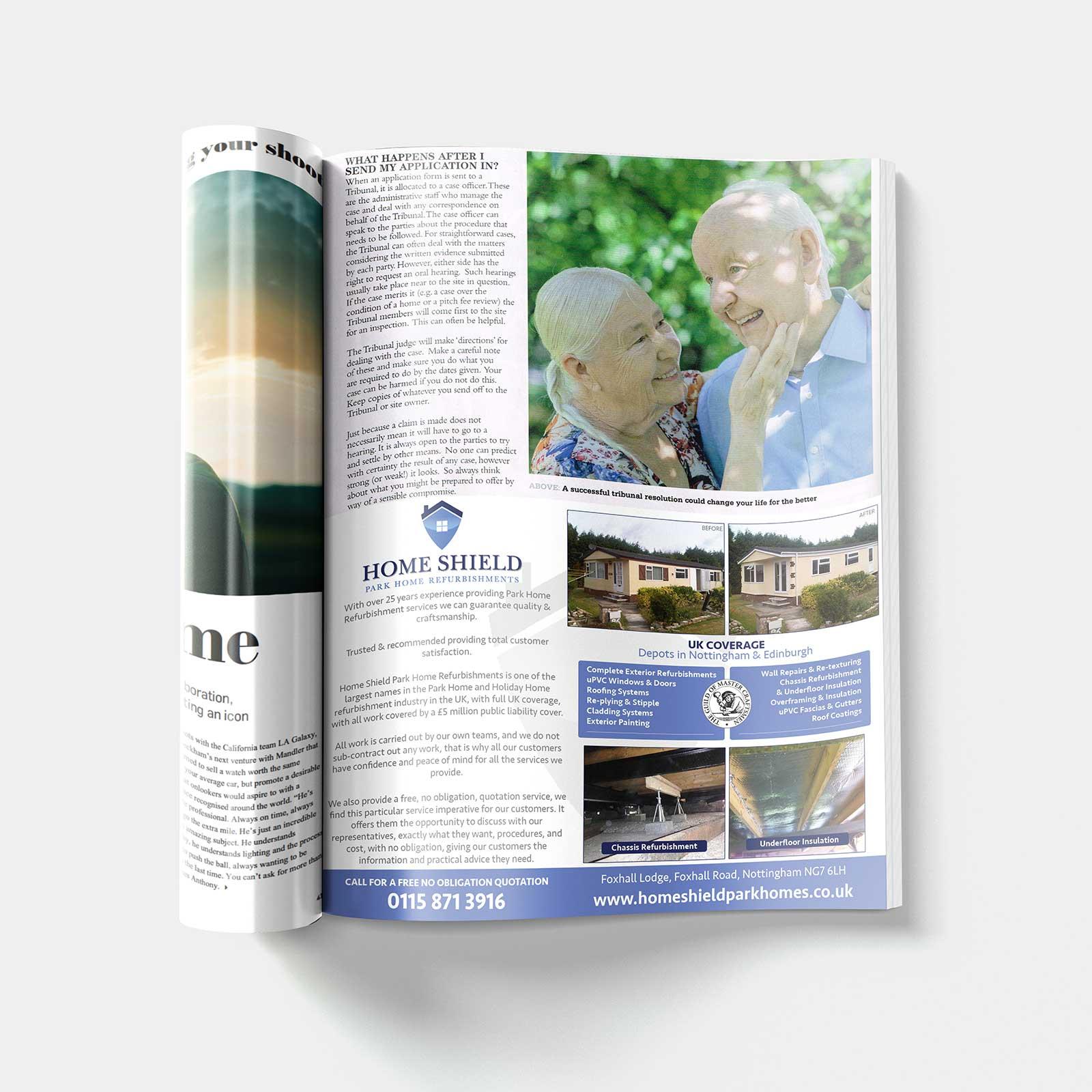 Home Shield - A5 Advert
