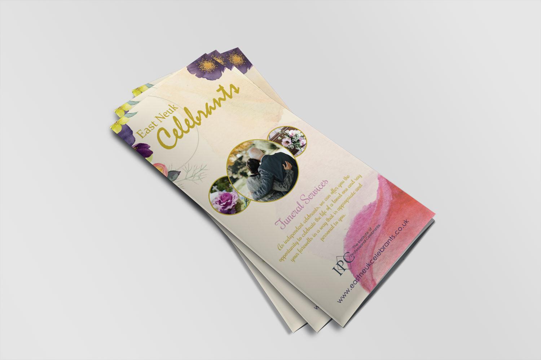 East Neuk Celebrants - Trifold Pamphlet